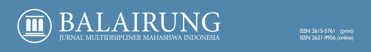 Balairung:Jurnal Multidisipliner Mahasiswa Indonesia