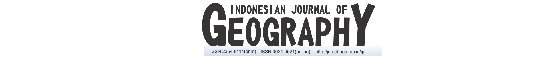 Indonesian Journal of Geography