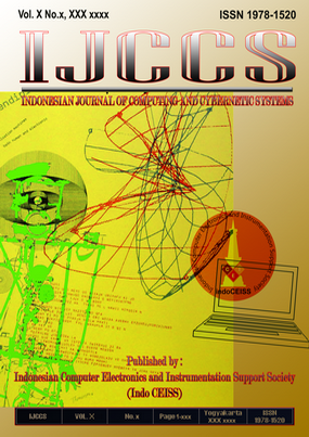 Ijccs Indonesian Journal Of Computing And Cybernetics Systems