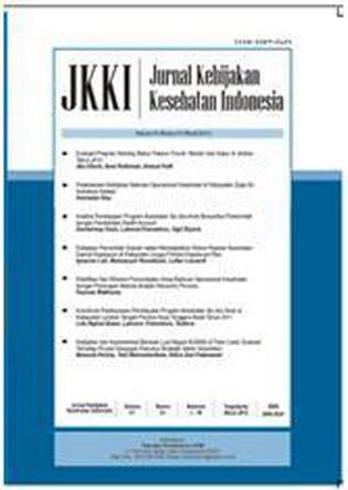 Jurnal Kebijakan Kesehatan Indonesia