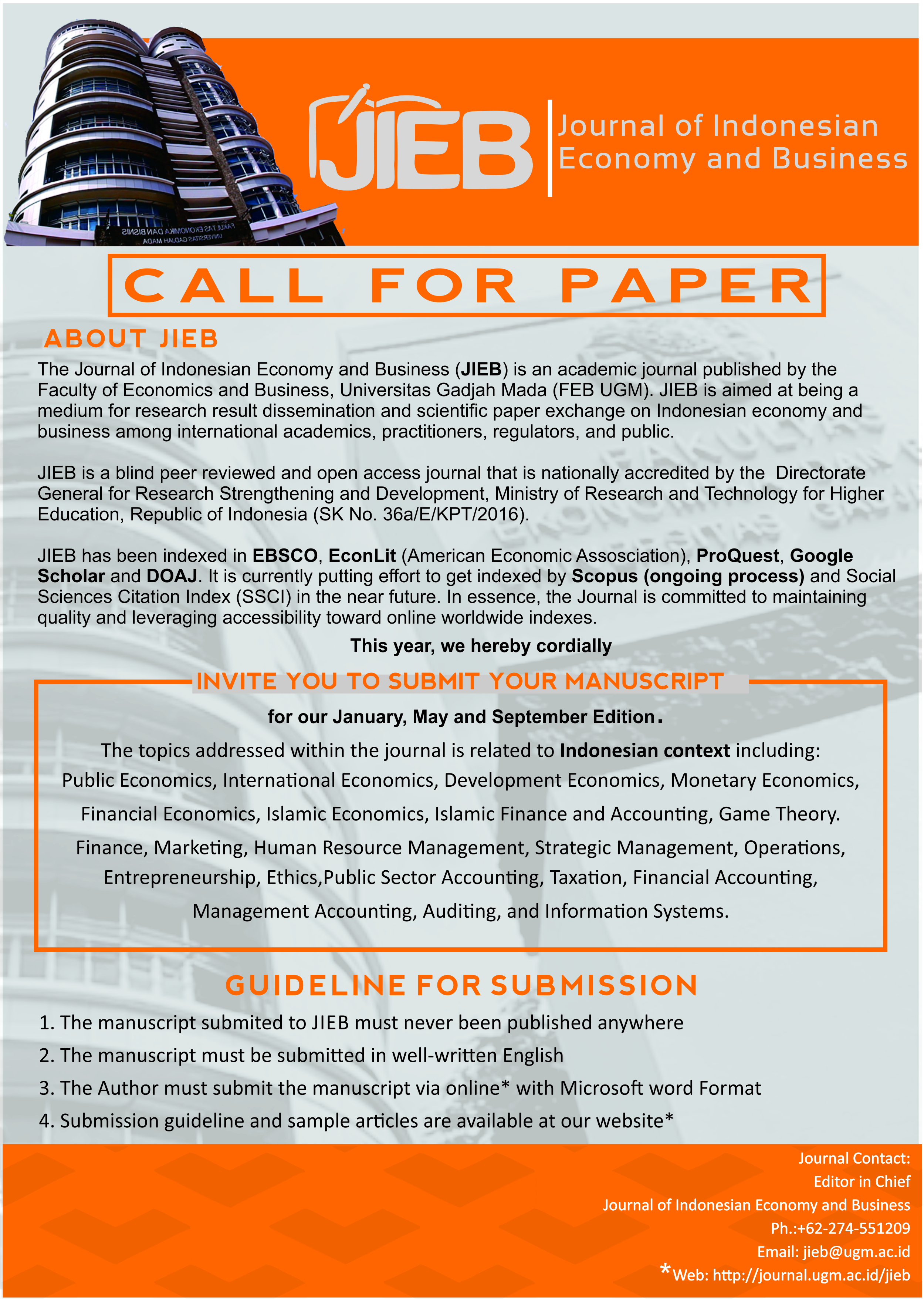 call for paper JIEB